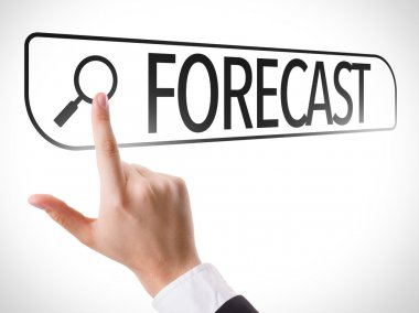 Forecast written  on virtual screen