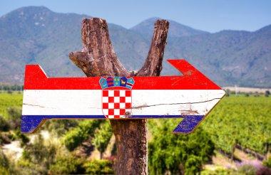 Croatia Flag wooden sign