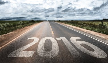 2016 written on road