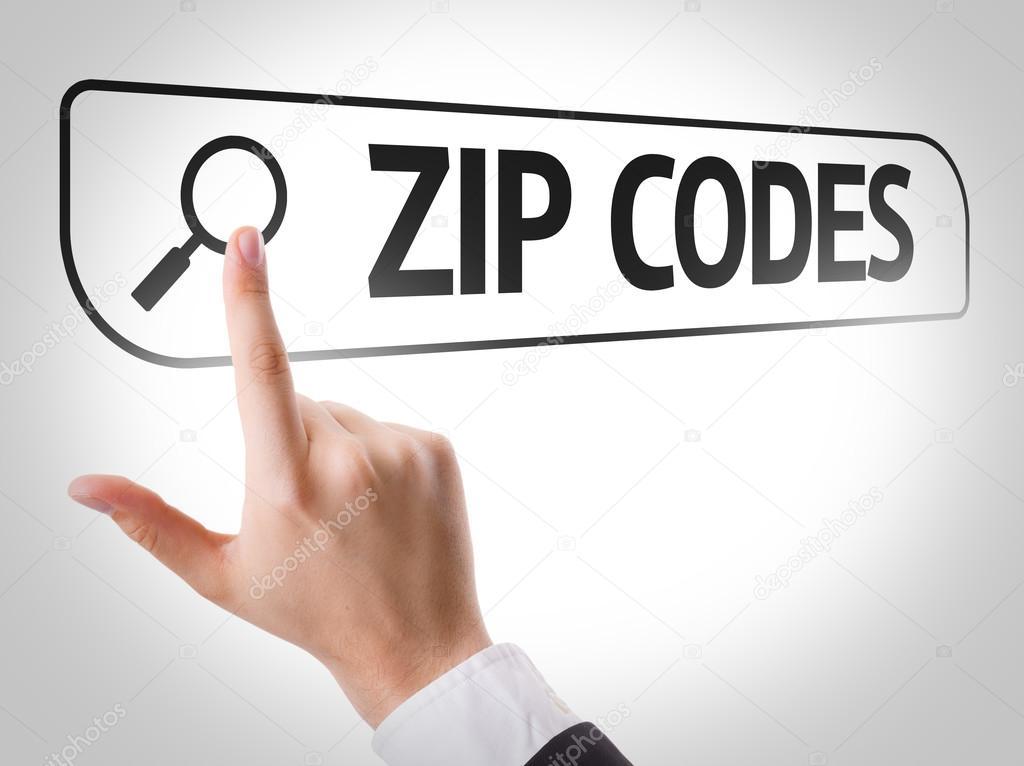Zip Codes written in search bar