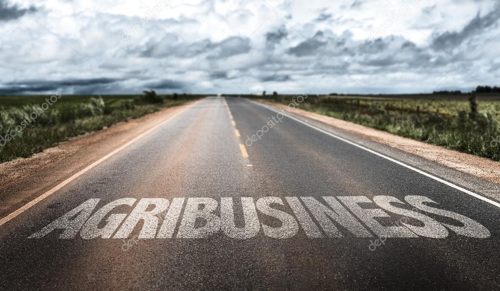 Agribusiness written on road