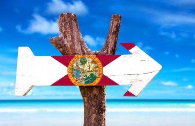 Florida Flag wooden sign