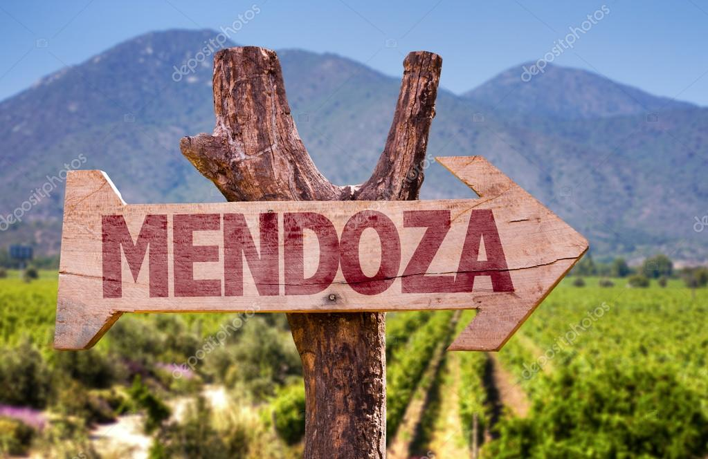 Mendoza wooden sign