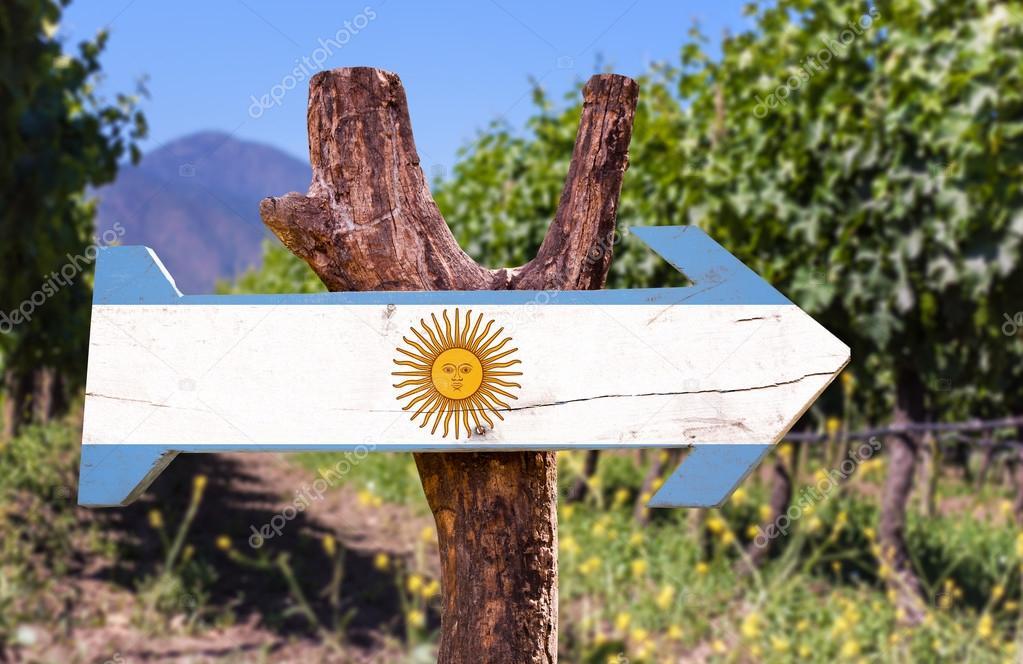 Argentina Flag wooden sign
