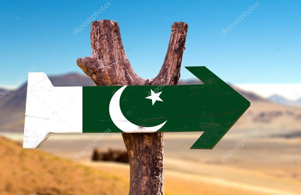 Pakistan Flag wooden sign