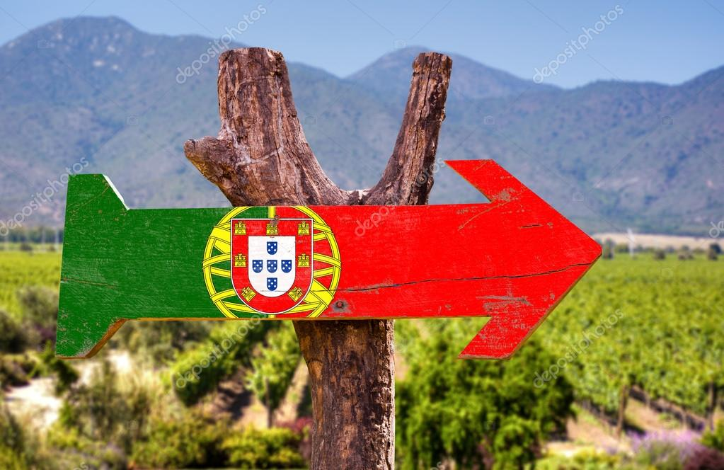 Portugal wooden sign