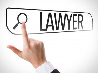 Lawyer written in search bar