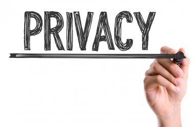 Hand writting the word Privacy