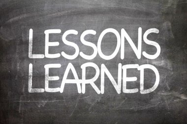 Lessons Learned on a chalkboard