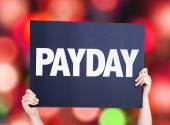 Payday card with blurred  background