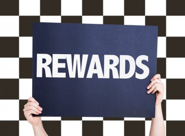 Rewards card on background