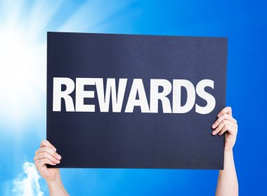 Rewards card on background