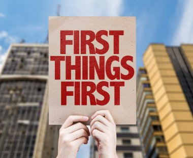 First Things First cardboard