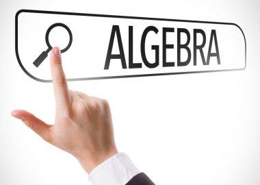 Algebra written in search bar