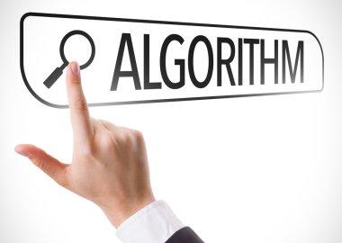 Algorithm written in search bar