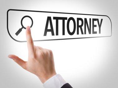 Attorney written in search bar