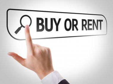 Buy or Rent written in search bar