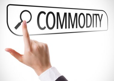 Commodity written in search bar