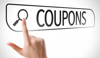 Coupons written in search bar