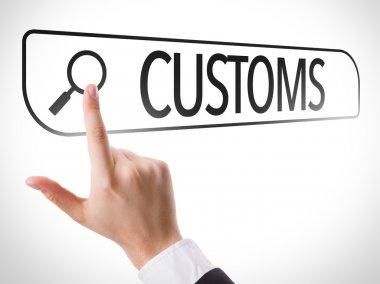 Customs written in search bar