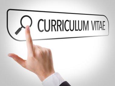 Curriculum Vitae written in search bar
