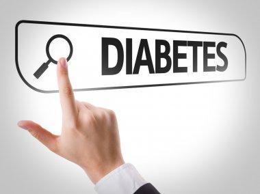 Diabetes written in search bar