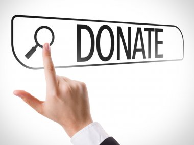 Donate written in search bar