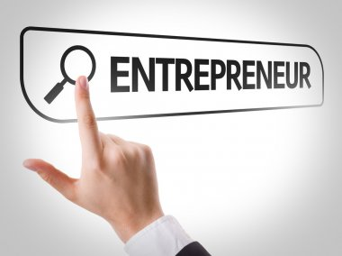 Entrepreneur written in search bar