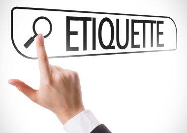 Etiquette written in search bar