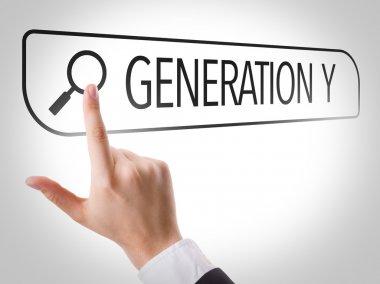 Generation Y written in search bar