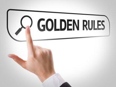 Golden Rules written in search bar