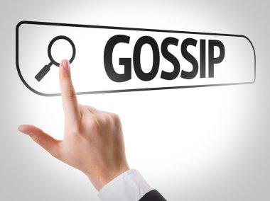 Gossip written in search bar
