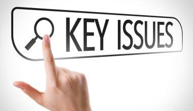 Key Issues written in search bar