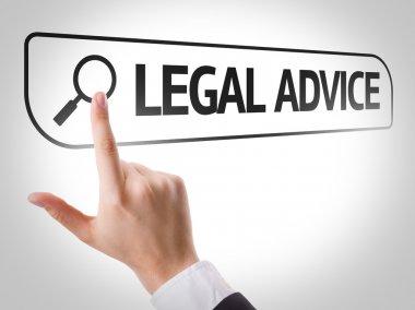 Legal Advice written in search bar