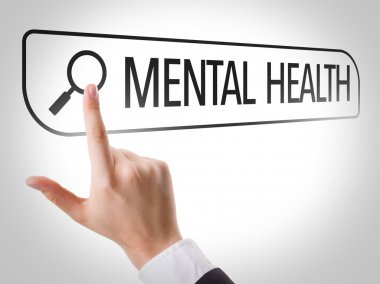 Mental Health written in search bar