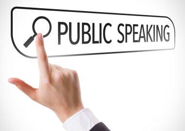 Public Speaking written in search bar