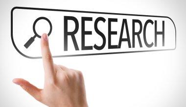 Research written in search bar