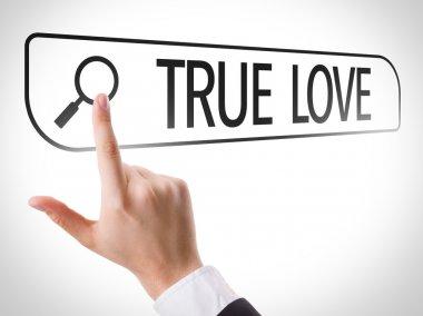True Love written in search bar