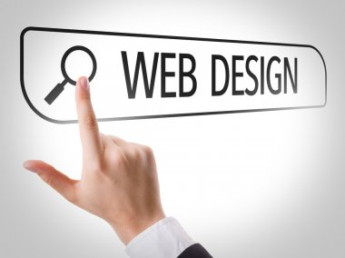 Web Design written in search bar