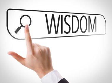 Wisdom written in search bar