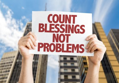 Count Blessing Not Problems card