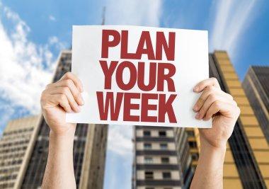 Plan Your Week placard