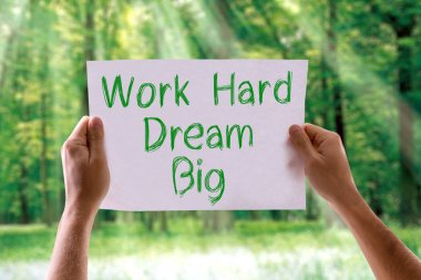 Work Hard Dream Big card