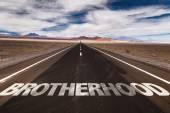 Brotherhood  on desert road