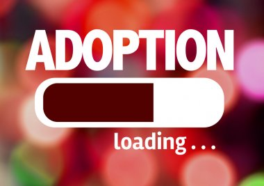 Bar Loading with the text: Adoption