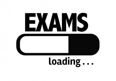 Bar Loading with the text: Exams