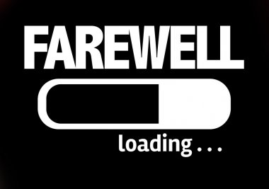 Bar Loading with the text: Farewell