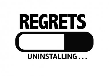 Bar Uninstalling with the text: Regrets