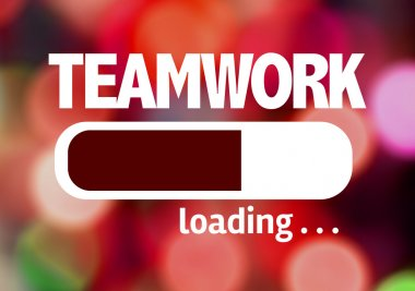 Bar Loading with the text: Teamwork