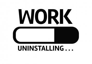 Bar Uninstalling with the text: Work
